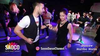 Aleksandr Padurin and Valeriya Chernyshova Salsa Dancing at Moscow MamboMania weekend, Sat 27.10.18