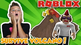 HOW TO SURVIVE A VOLCANIC ERUPTION in ROBLOX NATURAL DISASTER SURVIVAL