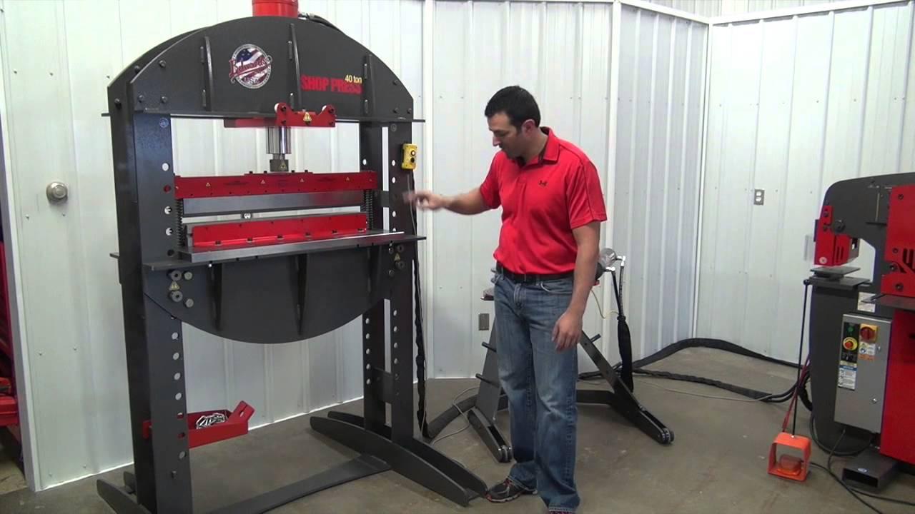 Edwards 40 Ton Shop Press Youtube