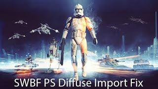 StarWars BattleFront Kleur kaart Importeren in PS Correctie