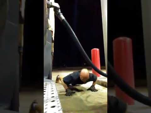 "Truck Driver in ""Burpees at the Pump"" Brad and Lola"