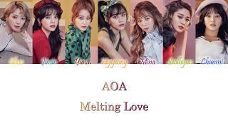 AOA (에이오에이) - Melting Love Han/Rom/Eng Color Coded Lyrics
