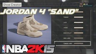 NBA 2K15 Schoen Maker | Jordan 4 Zand - | Xbox Een PS4