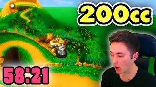 Mario Kart Wii - 200cc All Tracks Speedrun - 0:58:21 (No Ultra Shortcuts)
