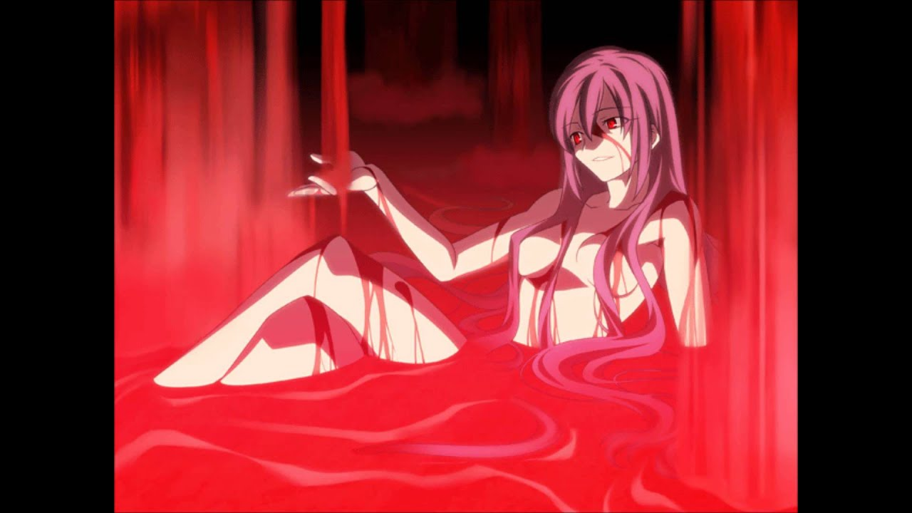 bath Blood in anime girl