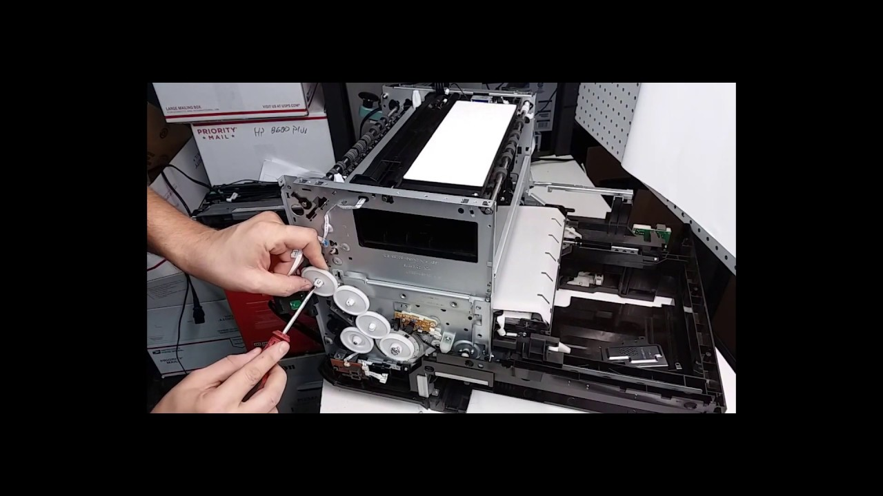 Taking Apart HP Officejet Pro X576DW Printer for Parts or Repair