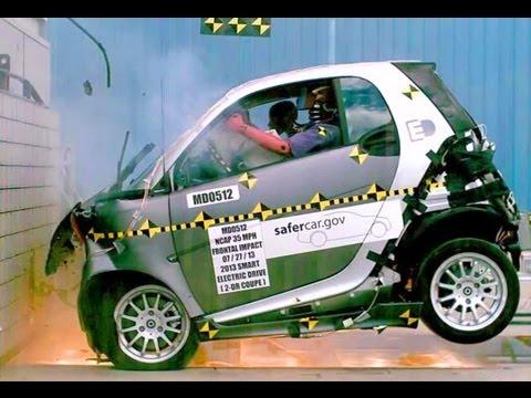 2013 Smart Fortwo Electric Drive | Frontal Crash Test by NHTSA | CrashNet1
