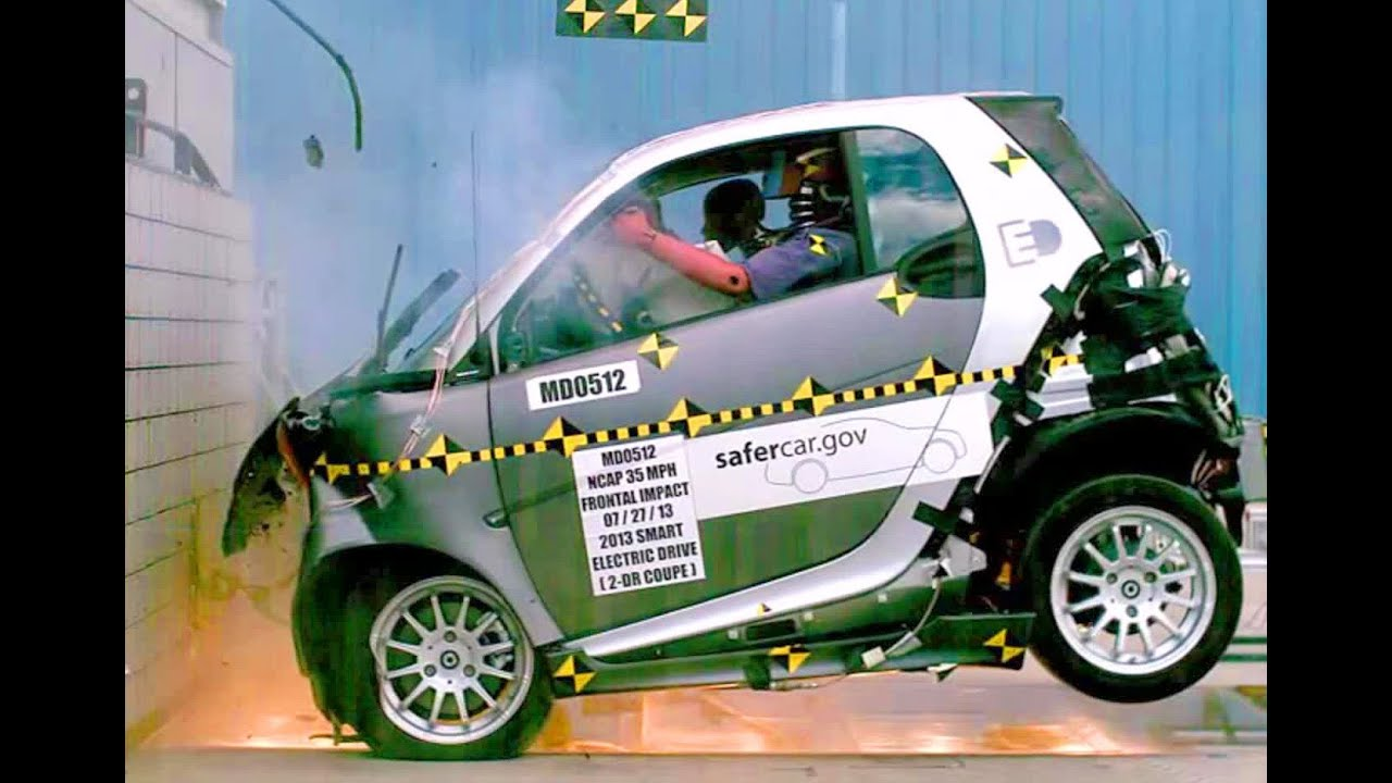 2013 Smart Fortwo Electric Drive  Frontal Crash Test by NHTSA