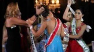 Miss Amazonas 2015 - Vice não aceita derrota e arranca a coroa da campeã! Shocking Coronation Brazil