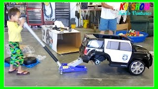 Kruz Unboxing and Assembling the Ride On Power Wheel Police Car!
