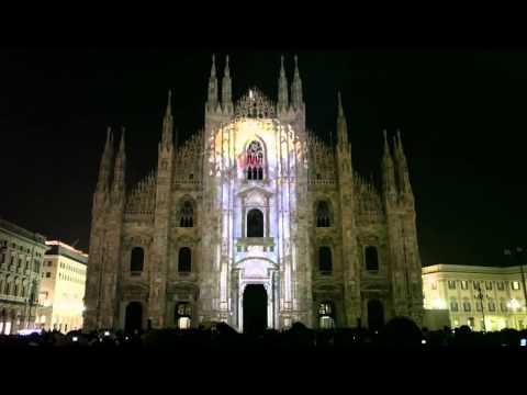 Video Mapping Duomo Milano HD