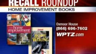 Recalls:  Home Improvement Books Top This Week's List