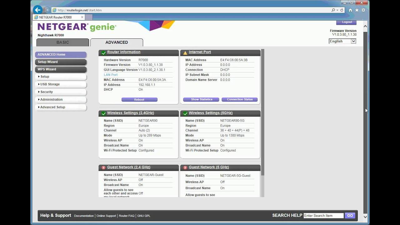 Netgear R7000 set up screen video