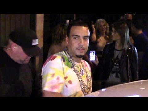French Montana Parties With Rihanna And Chris Brown At Hooray Henry's