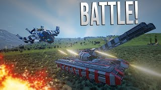 GUNSHIP BATTLE! - EPIC WARFARE - Space Engineers thumbnail