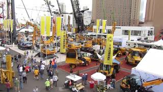 Video still for Attendees view exhibits and demonstrations in the Festival Lot, CONEXPO-CON/AGG 202O Las Vegas, Nev.