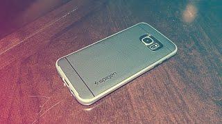 Spigen Neo Hybrid Satin Silver Case for Galaxy S7 Edge