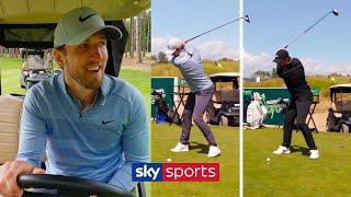 Harry Kane vs Tommy Fleetwood in must watch 3 hole golf challenge!