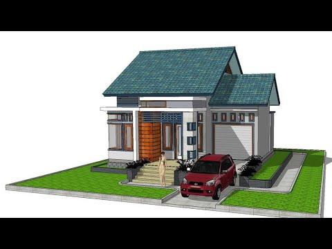 Rumah Minimalis 9 X 10 M Dengan 3 Kamar Tidur / Minimalis Modern Di  Pedesaan - YouTube