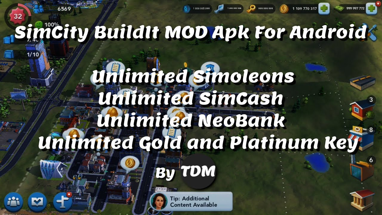 SimCity BuildIt V1.29.3.89288 Mod APK For Android   Unlimited Simoleons,SimCash,NeoBank,Gold,Keys  #Smartphone #Android