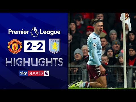 Jack Grealish scores SCREAMER 🚀| Manchester United 2-2 Aston Villa | Premier League Highlights
