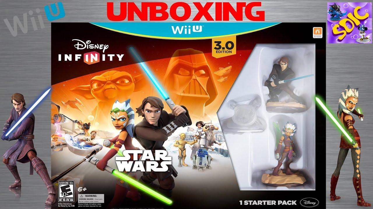 Unboxing Disney Infinity 3 0 Star Wars Wiiu Starter Pack