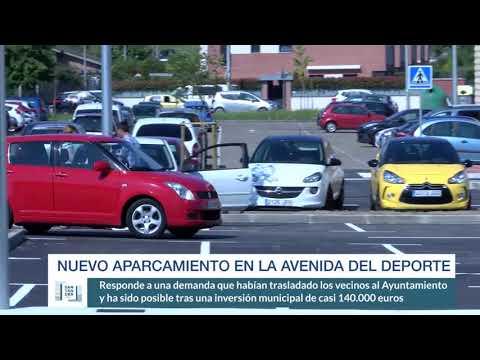 Nuevo aparcamiento en la Avenida del Deporte