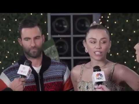 Miley Cyrus & Adam Levine 'The Voice' Interview