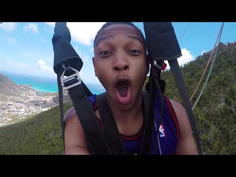ZIP LINING FROM THE TOP OF THE WORLD!!! (ST. MAARTEN)