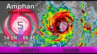 Amphan a Category 5 Super Cyclone - 10pm IST May 18, 2020
