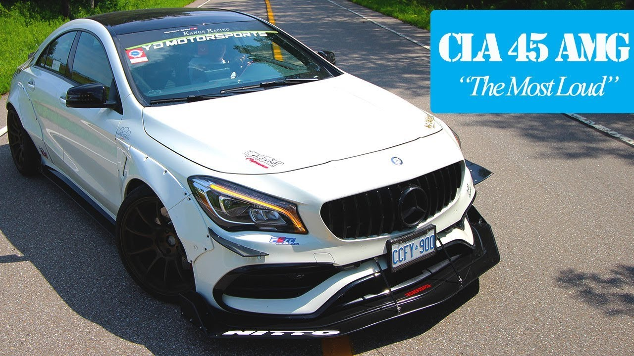 INSANELY LOUD MERCEDES CLA 45 AMG WIDE BODY