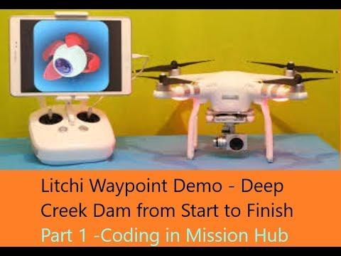 Litchi Waypoint Flight Part 1 - Deep Creek Dam NSW - The