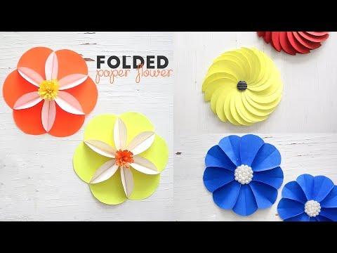 DIY Folded Paper Flowers