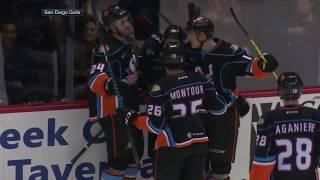 AHL player scores unbelievable lacrosse-style goal | ESPN Archives thumbnail