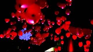 Запуск светящихся шаров на свадьбе. Компания