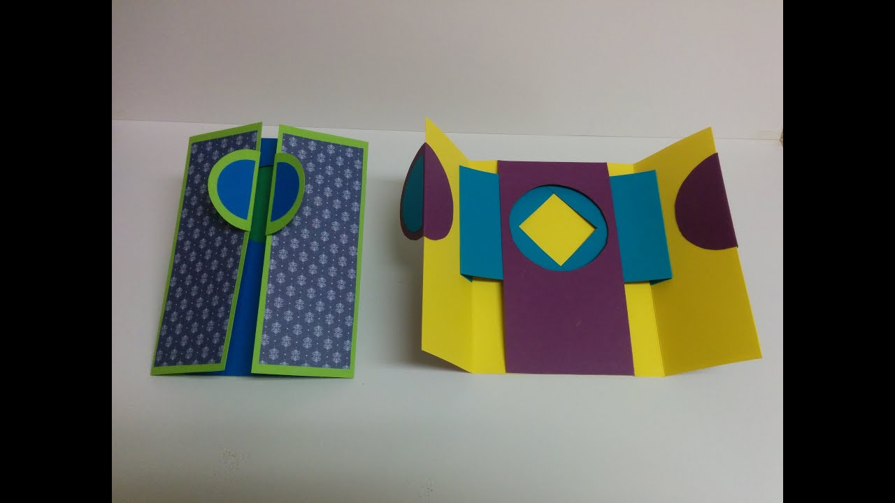 Art and Craft: How to make Window Shutter Card / Magic ... - photo#18