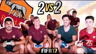 HO GIOCATO A FIFA CON I GIOCATORI DELLA AS ROMA !! w/INSA