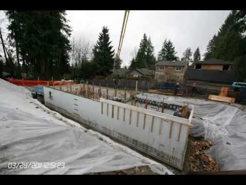 Icf Foundation With Suspended Garage Slab Youtube