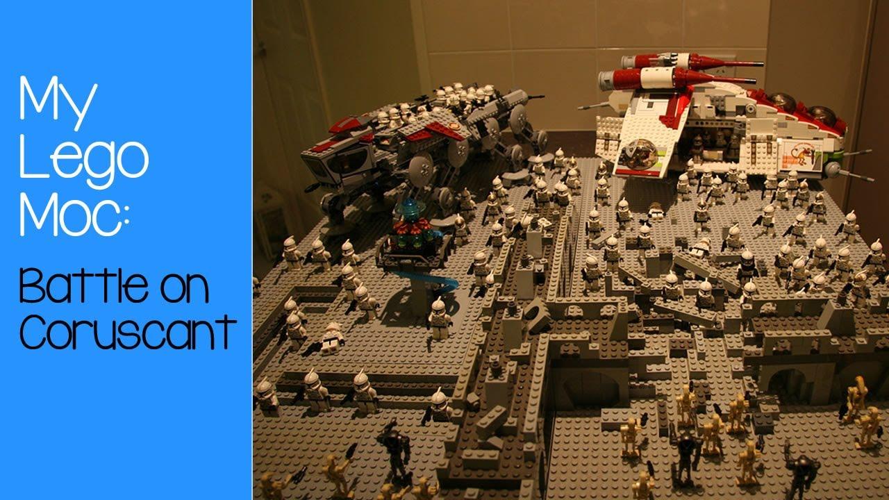 My Lego Star Wars Moc: Battle on Coruscant - YouTube