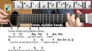 Green Fields, Golden Sands - Yusuf Islam/Cat Stevens, Cover, Chords, Lyrics - Guitar Lesson