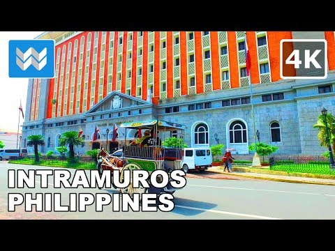 Intramuros Historic Walled City in Manila | Walking Tour |  Philippines Travel Guide 【4K】 🇵🇭