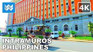 Walking around Intramuros in Manila, Philippines 【4K】 🇵🇭