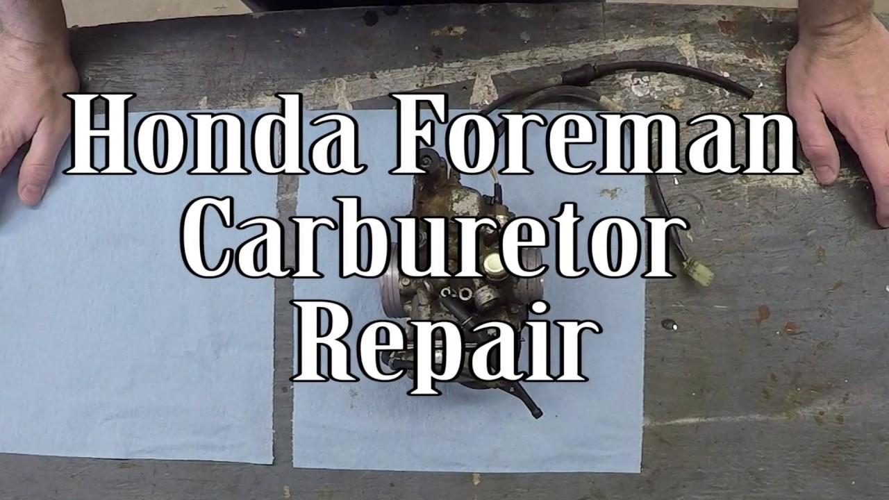 Honda Foreman Carburetor Repair Youtube 1989 Trx 300 Wiring Diagram Free Picture