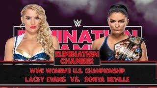 Lacey Evans vs Sonya Deville U.S. Women's Champion Elimination Chamber WWE2K19 Universe Mode #