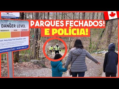 POLÍCIA NOS PARQUES FECHADOS NO CANADÁ DURANTE O CORONAVÍRUS COVID-19 - Vlog Ep.132