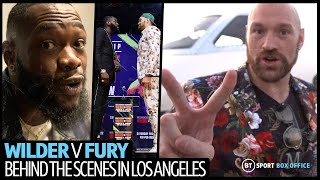 Behind the scenes with Tyson Fury and Deontay Wilder in Los Angeles |