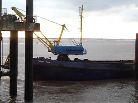 Dredgers on river Humber