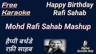 Happy Birthday To Great Rafi Sahab   Rafi sahab Mashup   Karaoke HD   Karaoke With Lyrics Scrolling