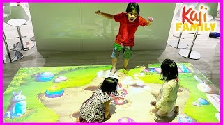 Ryan plays with Fun interactive Floor Games for Kids!!!