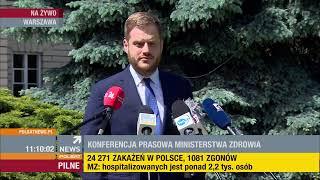 Polsat News: Konferencja prasowa premiera Morawieckiego, MZ Szumowskiego i MSWiA Kamińskiego